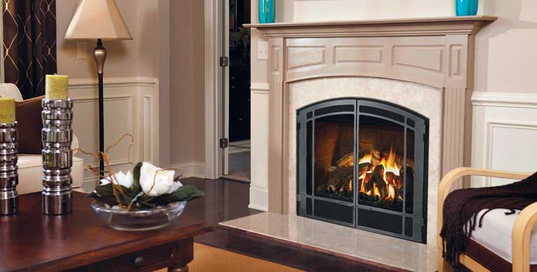 Pembroke 36 Wooden Fireplace Mantel - Grey lacquered